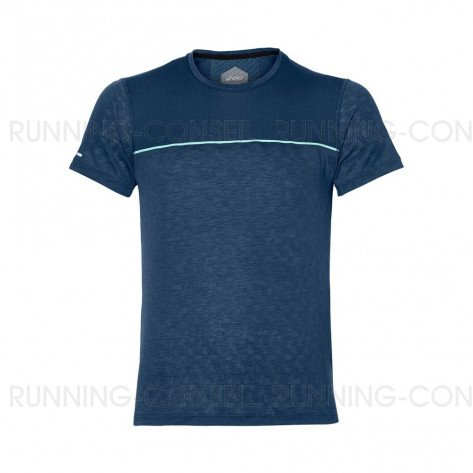 ASICS Tee-Shirt manches courtes GEL-COOL Homme | Bleu | Collection Printemps-Été 2018