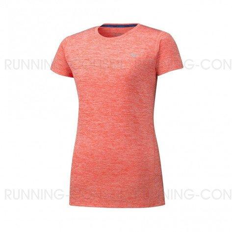 MIZUNO Tee-Shirt manches courtes IMPULSE CORE Femme   Hot Coral   Collection Printemps-Été 2019
