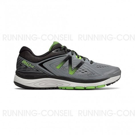 NEW BALANCE 860v8 Homme Steel with Energy Lime / Black Profil Extérieur