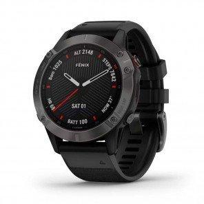 GARMIN fēnix 6 Sapphire, carbon gray DLC avec bracelet noir