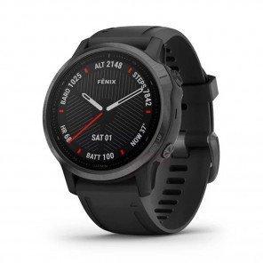 GARMIN fēnix 6S Carbon Gray DLC avec bracelet noir