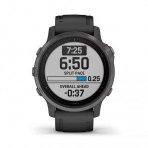 GARMIN fēnix® 6S Carbon Gray DLC avec bracelet noir