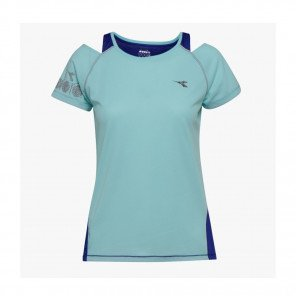 DIADORA Tee-shirt manches courtes L. BRIGHT SUN LOCK Femme | AQUA SPLASH