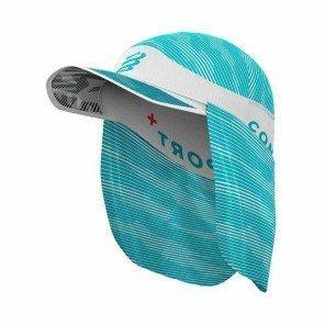 COMPRESSPORT Casquette ICE CAP SUN SHADE | Blanc/Bleu