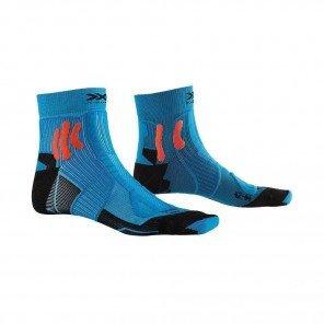 X-SOCKS Chaussettes Trail Run Energy mixte | Teal Blue / Sunset Orange