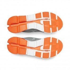 ON Cloudflyer Grey | Orange Homme