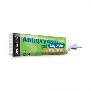 OVERSTIM'S GEL ANTIOXYDANT LIQUIDE Pêche-Abricot (Boîte de 10 tubes)
